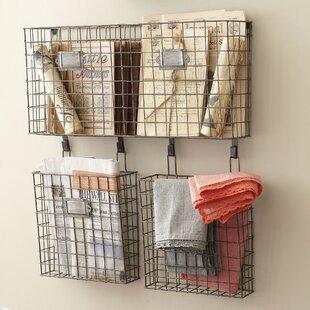 Omro Wall Storage Organizer With Baskets
