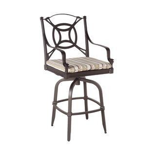 Isla Swivel Patio Bar Stool with Cushions