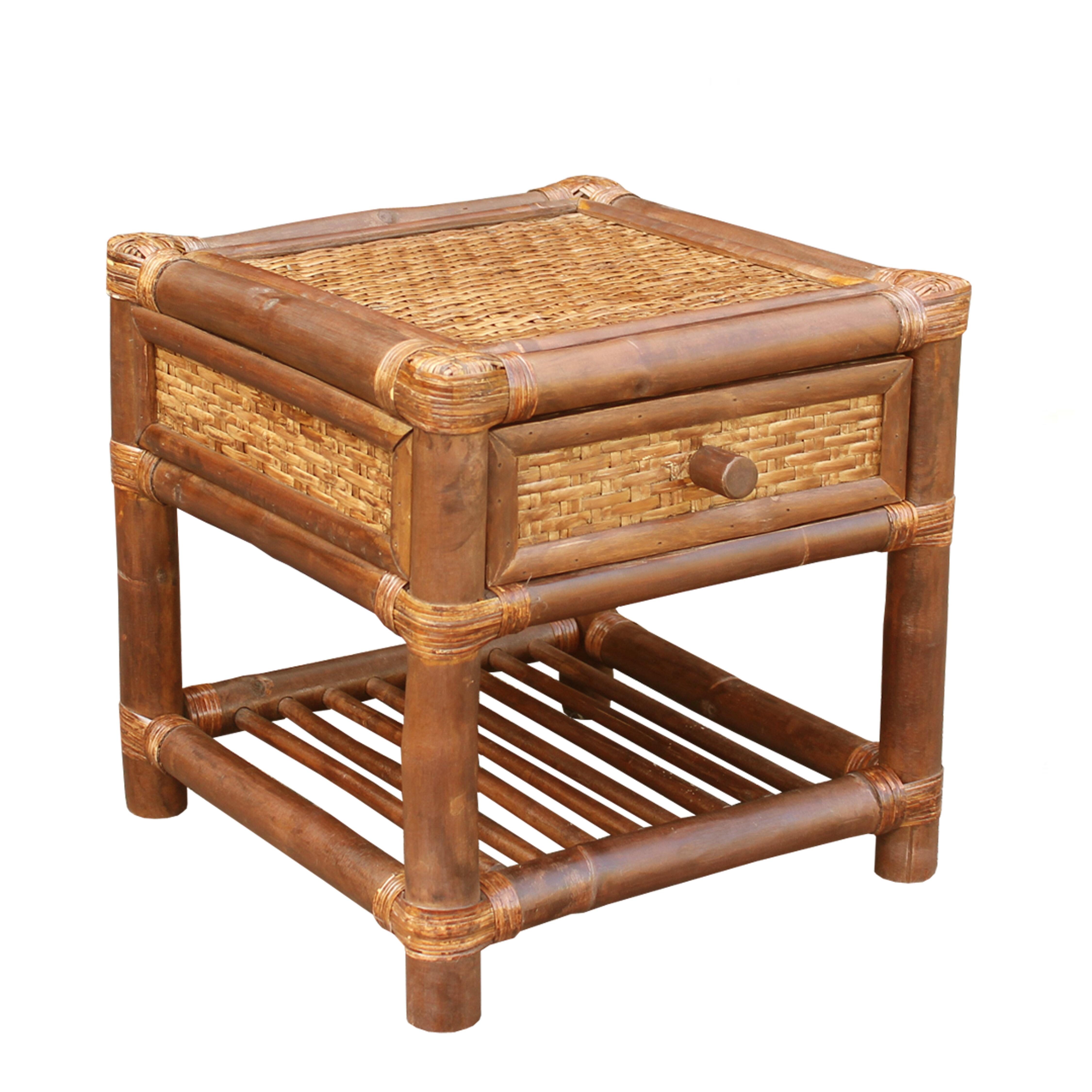 ZEW Bamboo Wood End Table | Wayfair