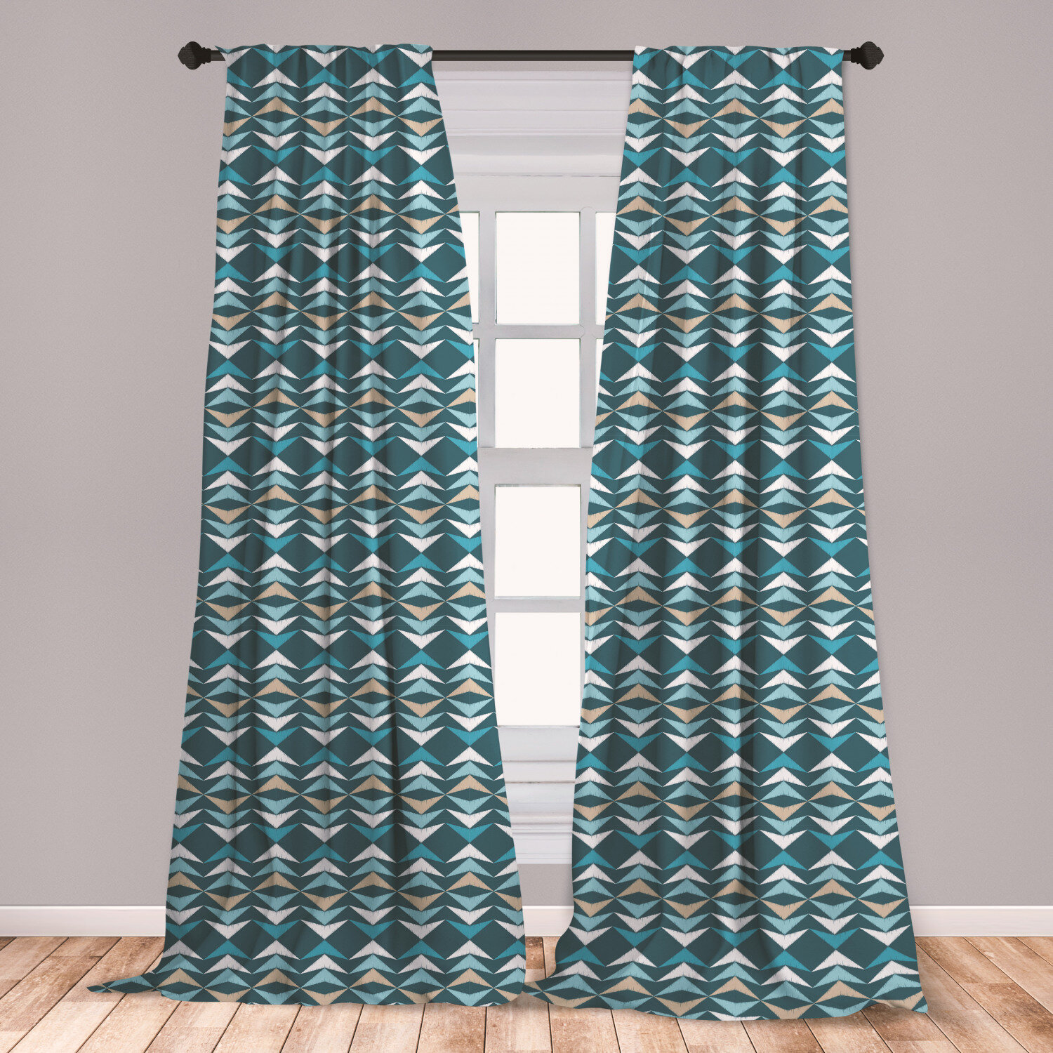 East Urban Home Ambesonne Boho Curtains Arrow Pattern With Grunge Worn Out Effect Retro Inspirations Culture Window Treatments 2 Panel Set For Living Room Bedroom Decor 56 X 63 Multicolor Wayfair