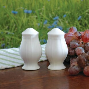 Antique White Salt and Pepper set