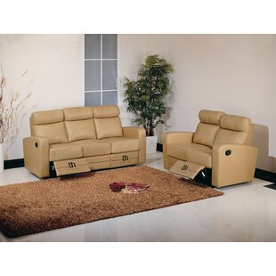 Dual Reclining Leather Configurable Living Room Set Hokku Designs