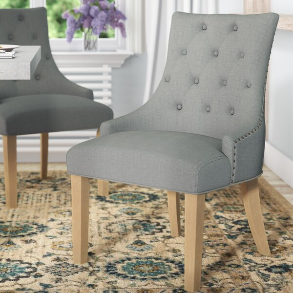 Laurel Foundry Modern Farmhouse Miles City On Tufted Wingback Hostess Upholstered Dining Chair Reviews Wayfair