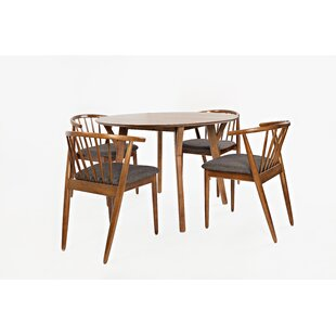 Holzman 5 Piece Dining Set by Union Rustic