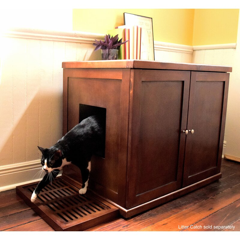 Clementine Wooden Litter Box Cabinet