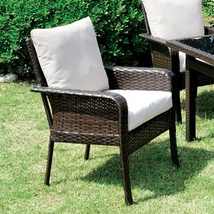 Kayo Patio Dining Chair with Cushion (Set of 2)