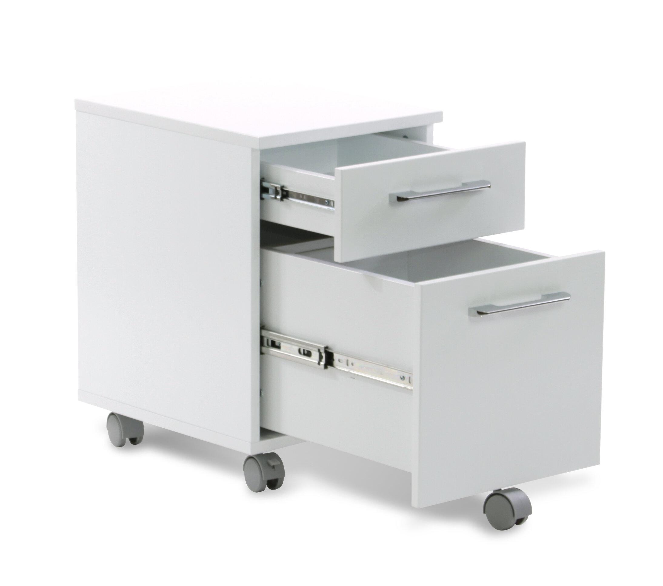 Comm Office Tarbes 2 Drawer Mobile Vertical Filing Cabinet Reviews Wayfair