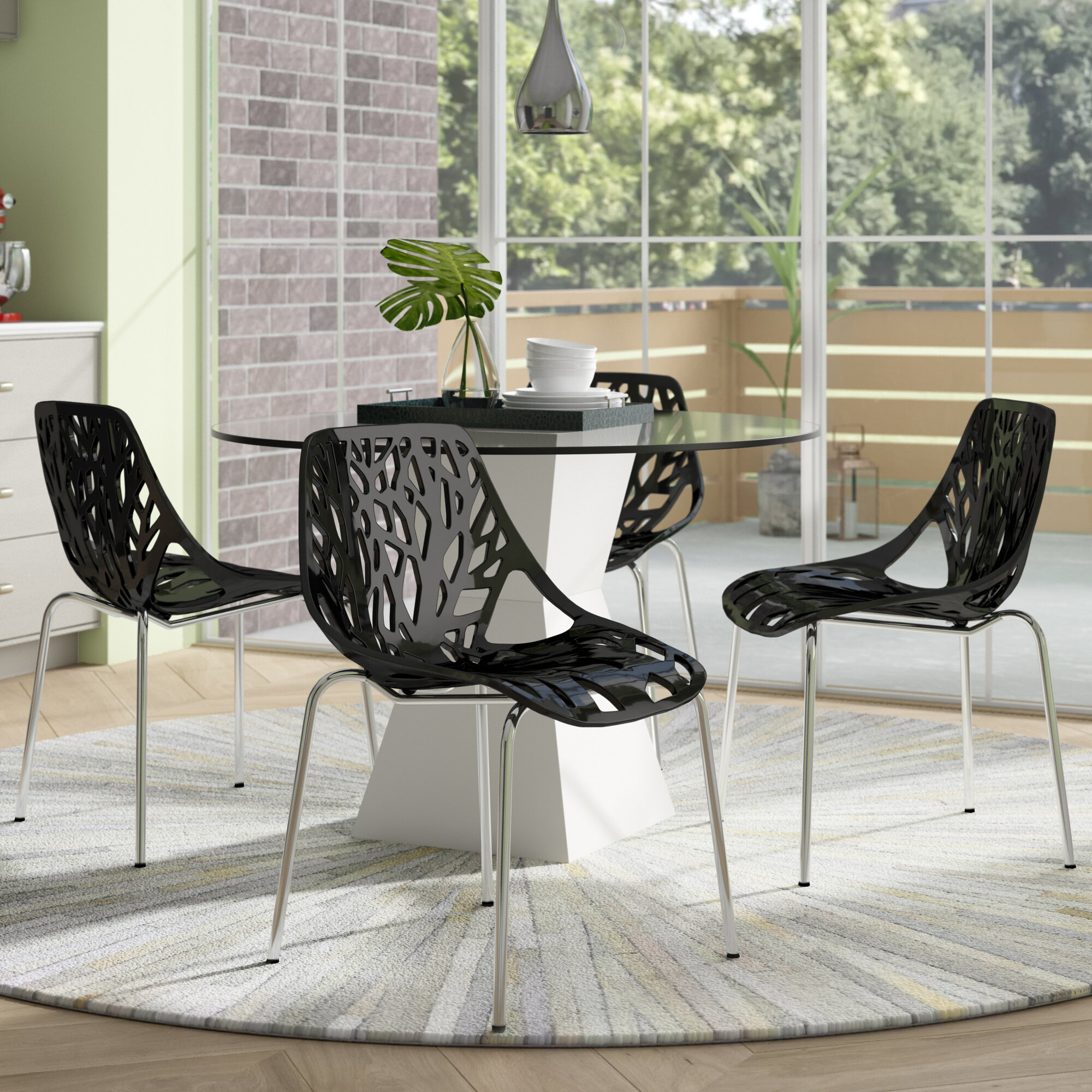 Black Stackable Chairs You Ll Love In 2021 Wayfair