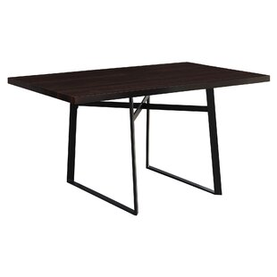 Cyprien Metal Dining Table Latitude Run