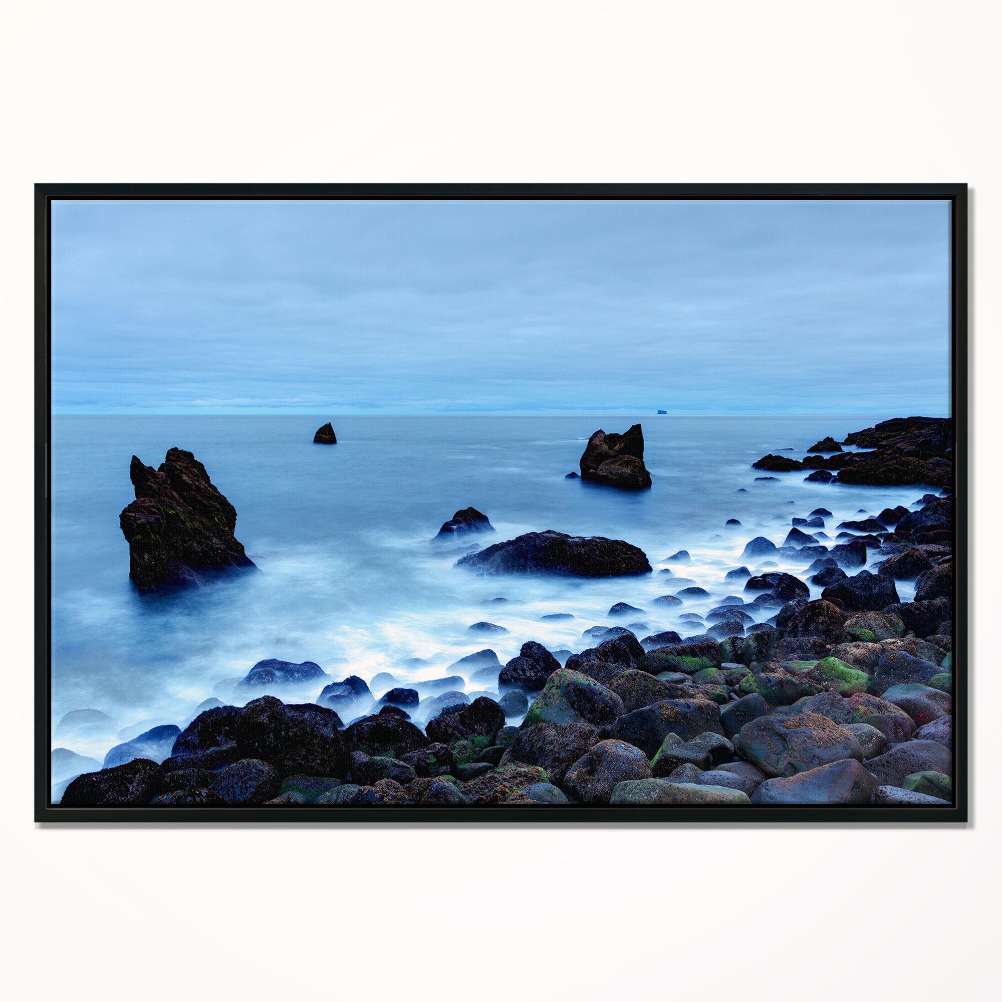 East Urban Home \'\'Rocky Coast near Raykjanes\' Framed Photographic ...