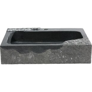 Y Decor Jaki Stone Rectangular Vessel Bathroom Sink