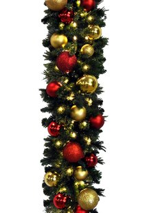 Blended Pine Decorated Garland