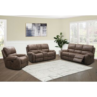 Houston Fabric 3 Piece Reclining Living Room Set by Abbyson Living