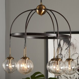 Online Reviews Yorba 6-Light Shaded Chandelier By Corrigan Studio