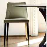Nora Genuine Leather Upholstered Dining Chair (Set of 2) by YumanMod