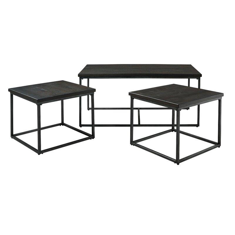 standard furniture montvale 3 piece coffee table set wayfair