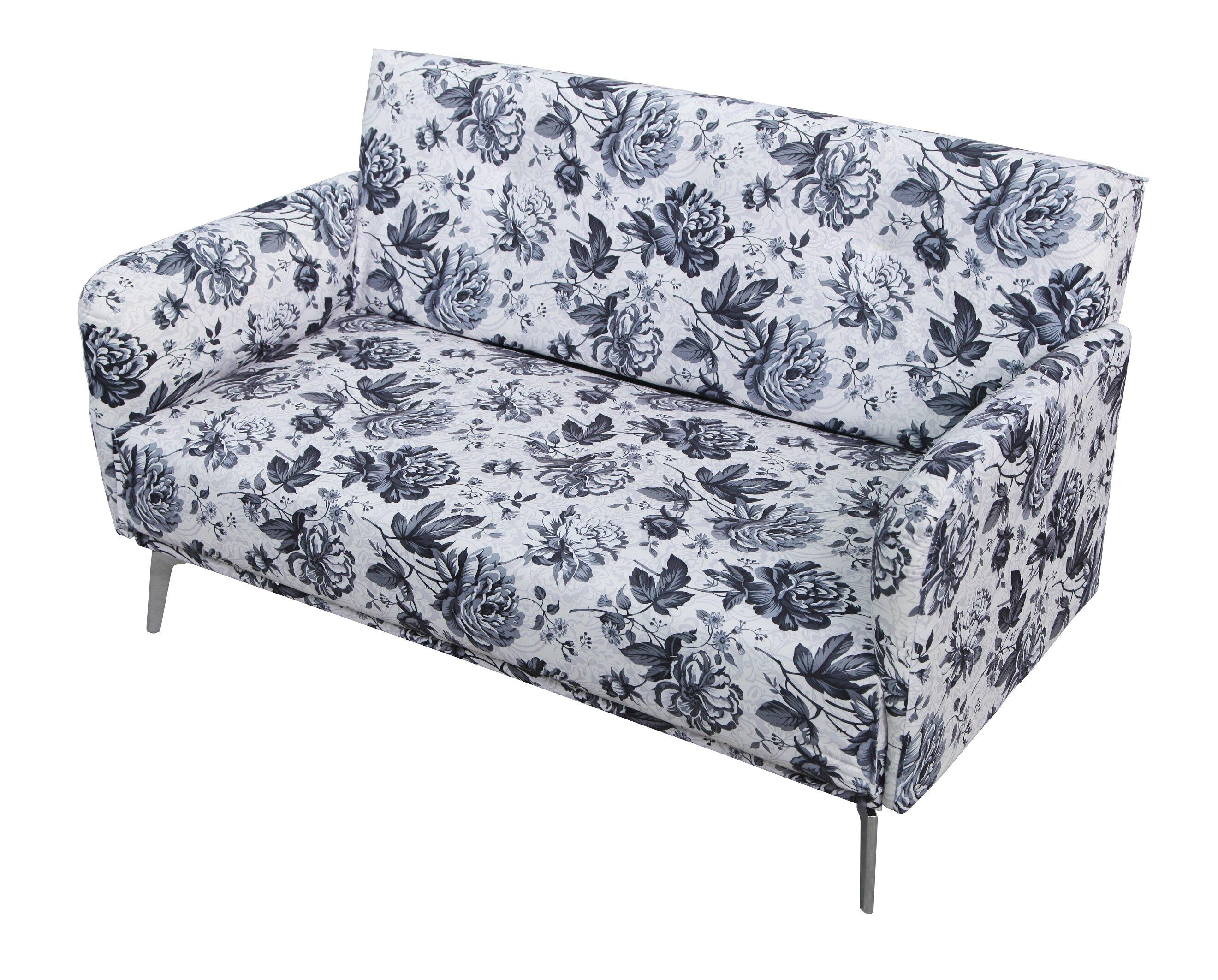 Prime Briscoe Flower Print Fabric Modern Loveseat Machost Co Dining Chair Design Ideas Machostcouk