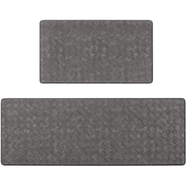 Corrigan Studio Anti Fatigue Kitchen Rugs Set 2 Piece Thick Cushioned Kitchen Floor Mat Carpets Heavy Duty Comfort Standing Mat Waterproof Non Slip Kitchen Runner Rug Reviews Wayfair