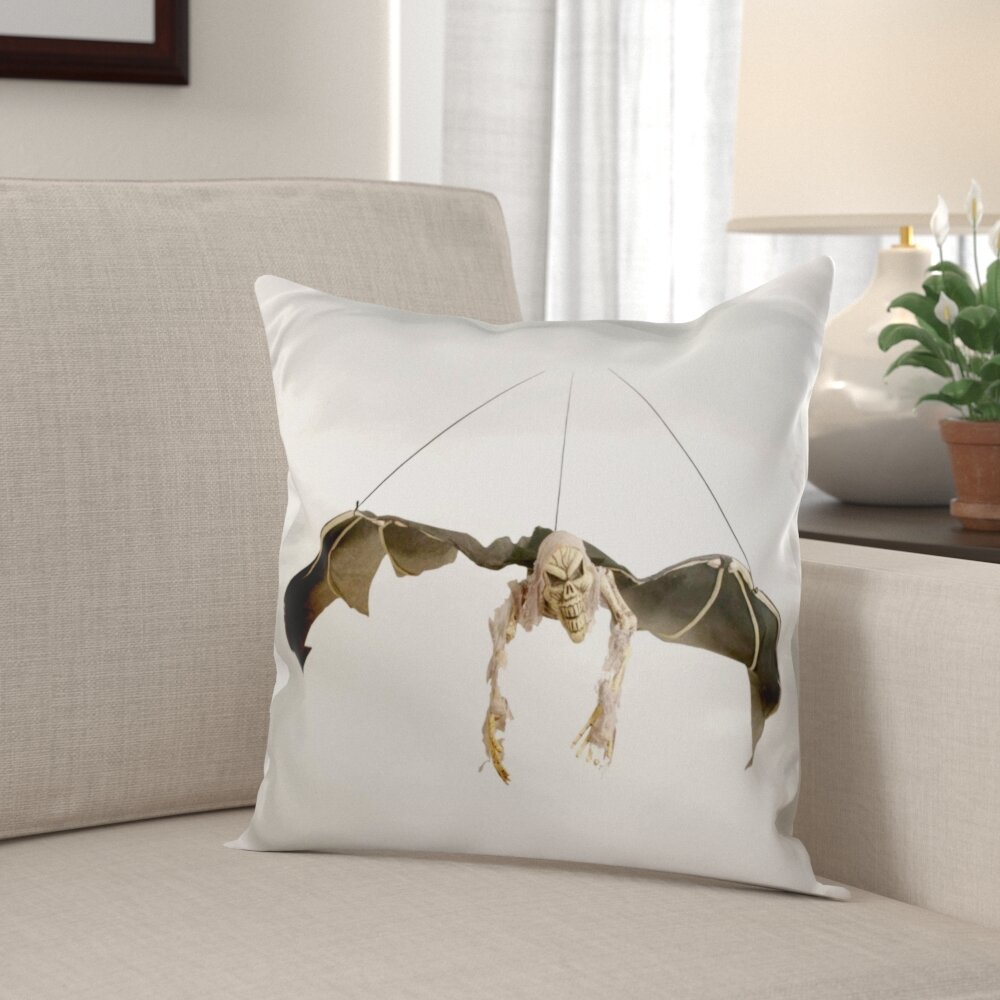 The Holiday Aisle Menges Halloween Scary Flying Skeleton Pillow Cover Wayfair