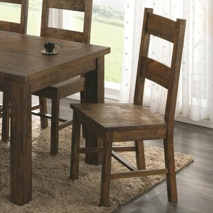 Weise Armless Wooden Dining Chair (Set of 2)
