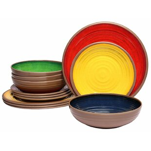 Meibos Clay Melamine 12 Piece Dinnerware Set  sc 1 st  Wayfair & Glazed Clay Dinnerware | Wayfair
