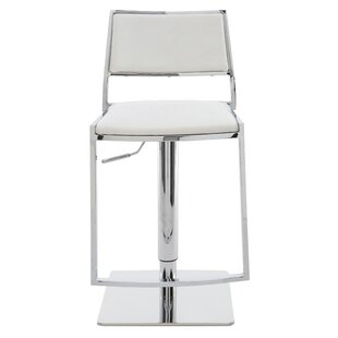 Aaron Adjustable Height Swivel Bar Stool ..
