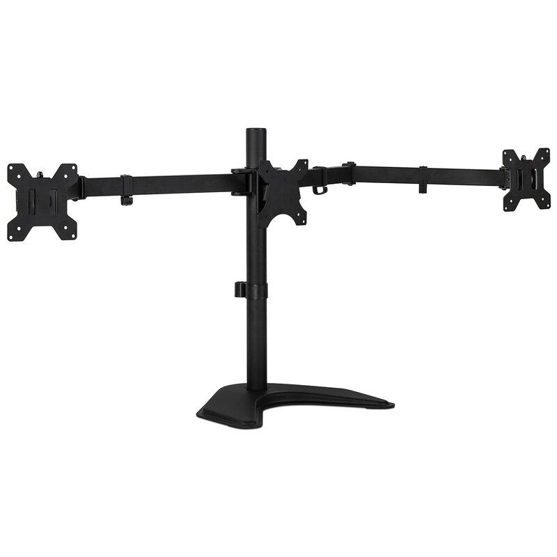 Freestanding Height Adjustable 3 Screen Desk Mount