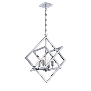 Best Rosson 4-Light Geometric Chandelier By Brayden Studio