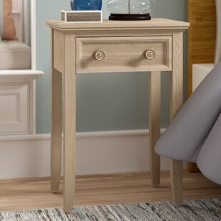 Top Reviews Eastweald 1 Drawer Nightstand by Beachcrest Home