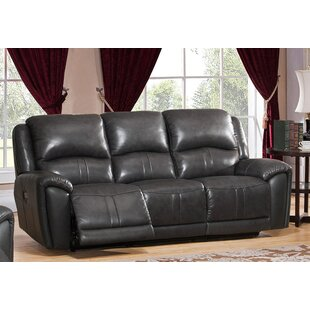 Shop Gutierez Leather Reclining Sofa by Red Barrel Studio