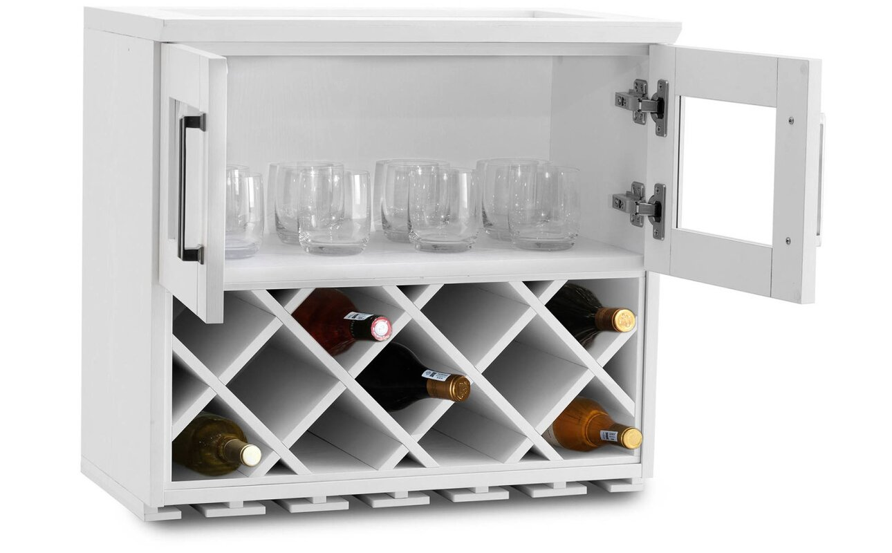 NewAge Products Wall Wine Bar with Wine Storage & Reviews | Wayfair