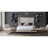 Madison Ave Tufted Upholstered Low Profile Standard Bed by Diamond Sofa