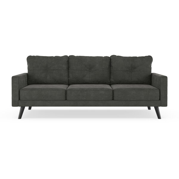 Brand-new Black Suede Couch | Wayfair FP95