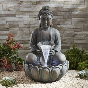 Stetler Resin Sitting Buddha Water Feature With LED Light Image