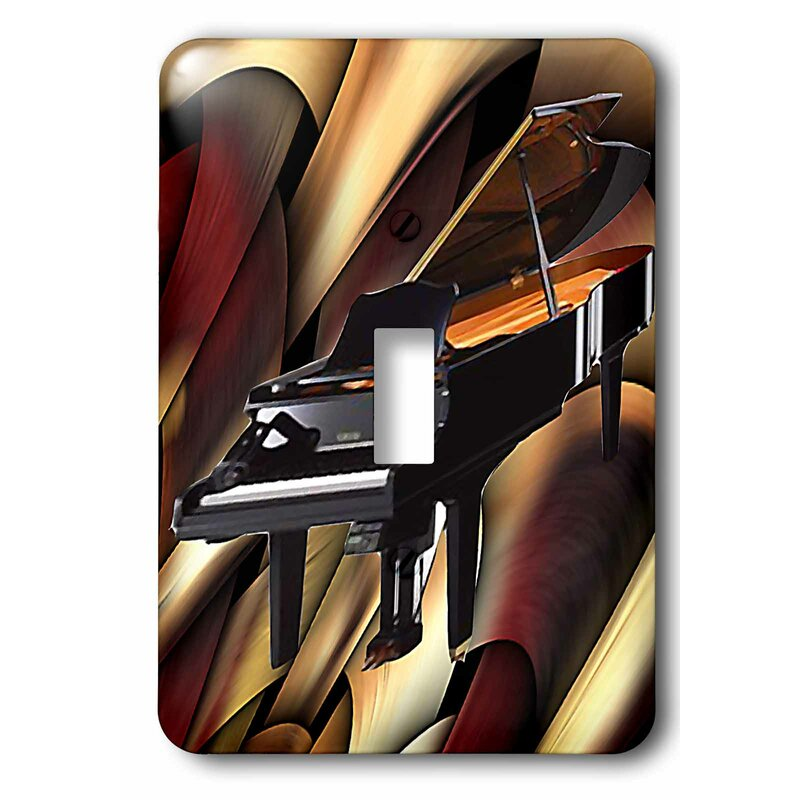 3drose Grand Piano Abstract 1 Gang Toggle Light Switch Wall Plate Wayfair