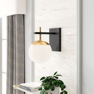 Pierre 1 - Light Dimmable Weathered Black/Autumn Gold Armed Sconce