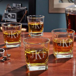 Rutherford Personalized 10 oz. Whiskey Glass (Set of 4)
