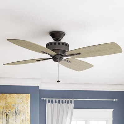 17 Stories 52 inch Sherise Patio 4 Blade Outdoor Ceiling Fan Finish Old Bronze