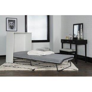 Dewitt Storage Murphy Bed with Mattress by Linon