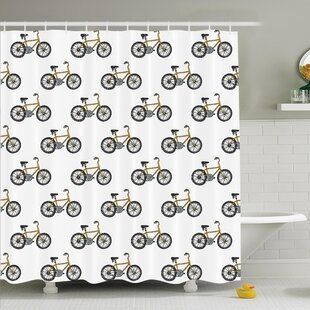 Lake Bicycle Shower Curtain Set