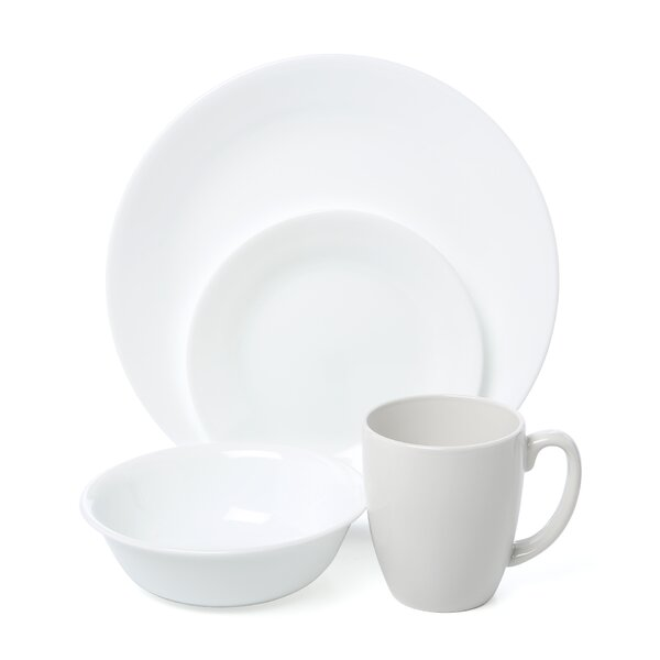 corelle livingware winter frost 16 piece dinnerware set, service for
