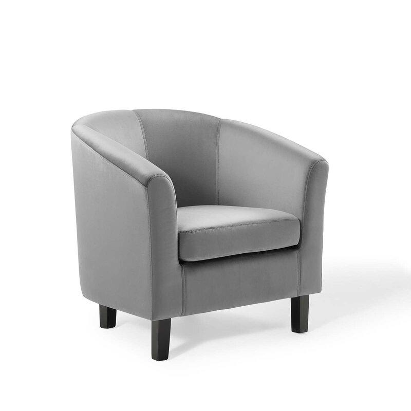 Zipcode Design Ziaa Performance Velvet Barrel Chair Wayfair
