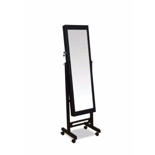 Latitude Run Coots Free Standing Jewelry Armoire with Mirror