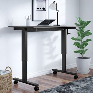 Crank Standing Desk in Black Oak