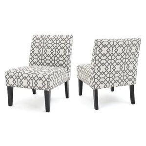Elegant Veranda Slipper Accent Chair (Set Of 2)