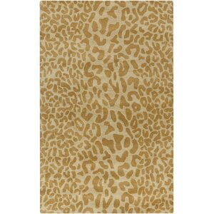 Macias Beige Animal Print Area Rug