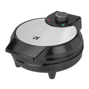 Traditional Black and Stainless Steel Belgian Waffle Maker