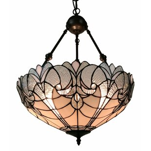 Compare Floral Hanging 2-Light Bowl Pendant By Amora Lighting