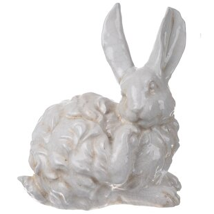 White Ceramic Rabbit Figurine