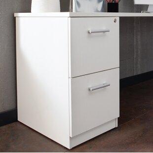 Gerth Locking Pedestal 2-Drawer Vertical Filing Cabinet by Ebern Designs